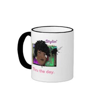DIVA Girl Ringer Coffee Mug