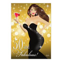 Diva Glam Bombshell 50th Birthday | gold Card