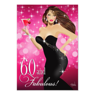Diva Glam Bombshell 60th Birthday | fuchsia Card