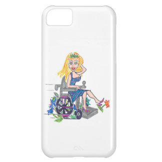 Diva in a wheel-chair kicks up some flowers iPhone 5C cases