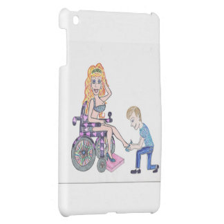 Diva in a wheel-chair with her Man at her feet Cover For The iPad Mini