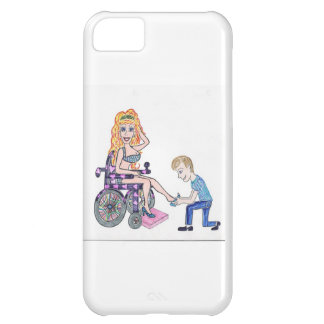 Diva in a wheel-chair with her Man at her feet iPhone 5C Cases