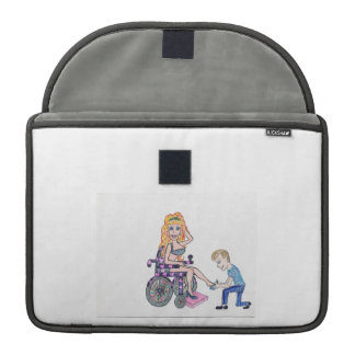 Diva in a wheel-chair with her Man at her feet MacBook Pro Sleeve