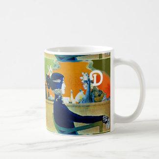 DIVA IN BLUE ,BEAUTY FASHION MONOGRAM COFFEE MUG