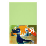 DIVA IN BLUE ,BEAUTY FASHION MONOGRAM Green Stationery