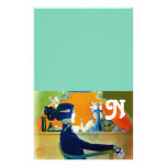 DIVA IN BLUE ,BEAUTY FASHION MONOGRAM STATIONERY