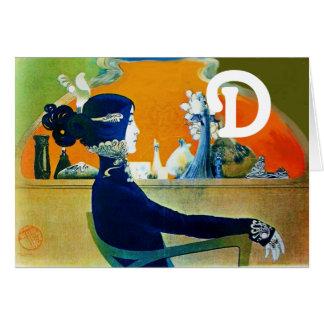 DIVA IN BLUE MONOGRAM CARD