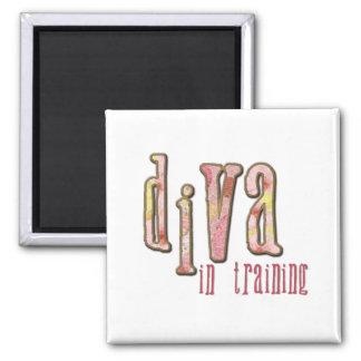 Diva In Training 2 Inch Square Magnet
