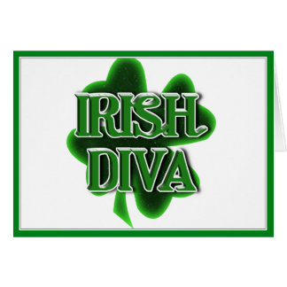 Diva irlandesa felicitación