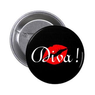 Diva Kiss 2 Inch Round Button