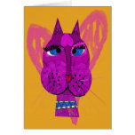 Diva Kitty Greeting Card