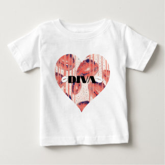 Diva lips Heart Baby T-Shirt