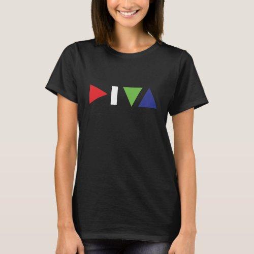 DIVA logo womens dark t_shirt