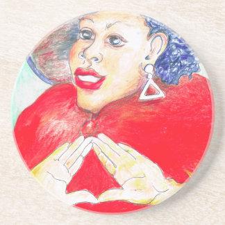 Diva Love Sandstone Coaster