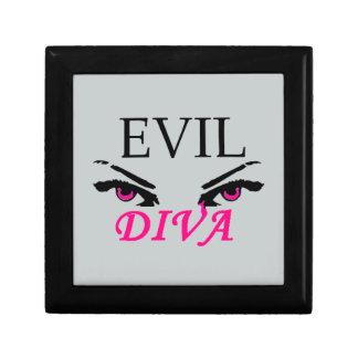 Diva malvada con los ojos vampy caja de regalo