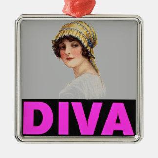 Diva Metal Ornament