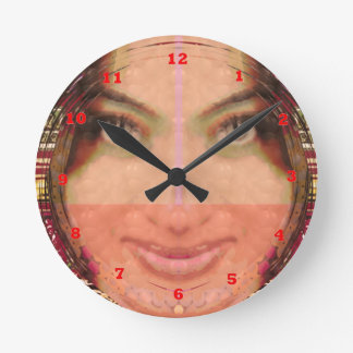 Diva Mischief Girl Graphics on Gifts POD Round Clock