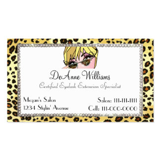 Diva of a Business Card for EyeLash Extensions