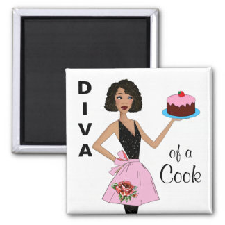 """Diva of a Cook"" Ethnic Magnets"