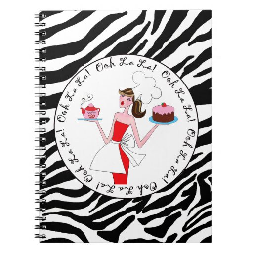 """Diva of a Cook - """"Ooh La La!"""" - Spiral Notebook"""