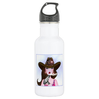 """Diva of a Cowgirl"" Hair Stylist Stainless Steel Water Bottle"