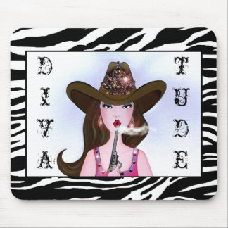 """Diva of a Cowgirl"" Mousepad"