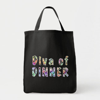 DIVA of DINNER Grocery BAGS - Fashion TOTES