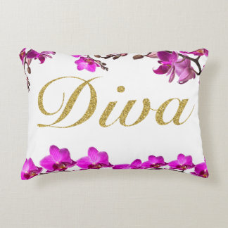 Diva Orchid Pillow