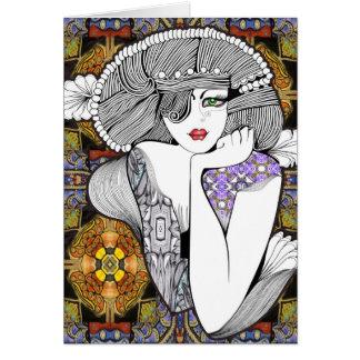 Diva pagana tarjeta de felicitación