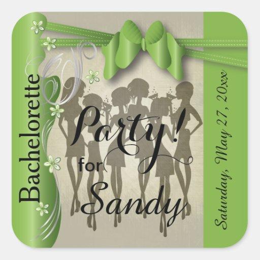 Diva Party Girls | Peridot Green Sticker