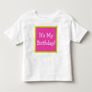 Diva Pink and Tropical Lime Happy Birthday Song Toddler T-shirt