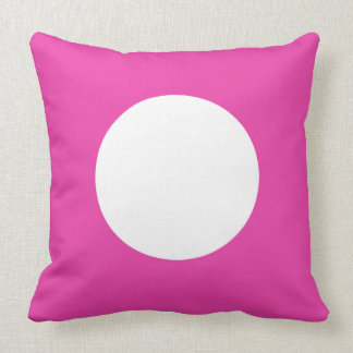 Diva Pink and White Polka Dot Reversible Throw Pillow