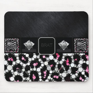 Diva Pink Cheetah Brat Diamonds Mouse Pad