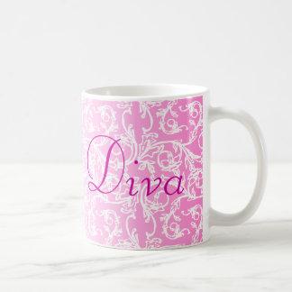 Diva Pink Lace Mug