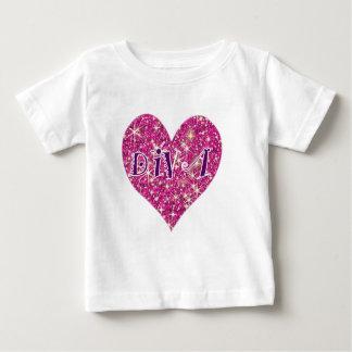 Diva pink sparkle heart kids baby T-Shirt