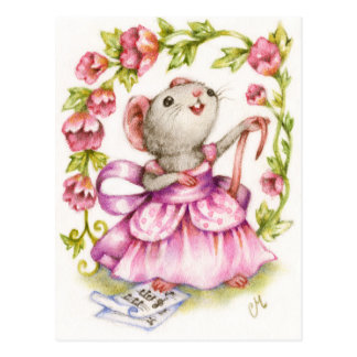 Diva - postal musical linda del arte del ratón