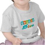 Diva retra del Veggie Camisetas