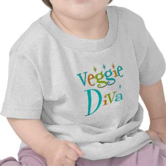 Diva retra del Veggie Camiseta