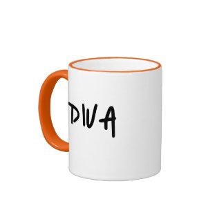 DIVA RINGER COFFEE MUG
