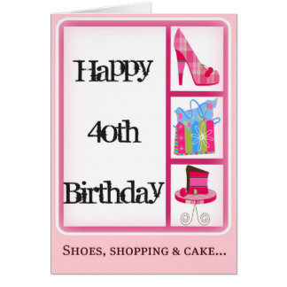 Diva s 40th Birthday Card for Women
