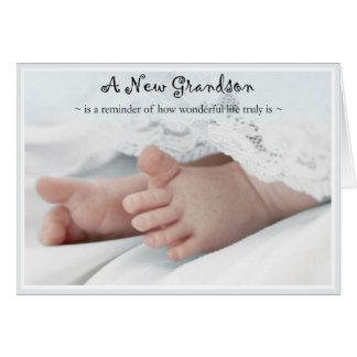 Diva s Congratulations-New Grandson Greeting Card
