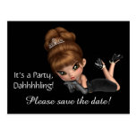 Diva Save the Date Postcard