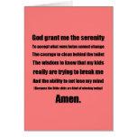 Diva Serenity Prayer Greeting Cards