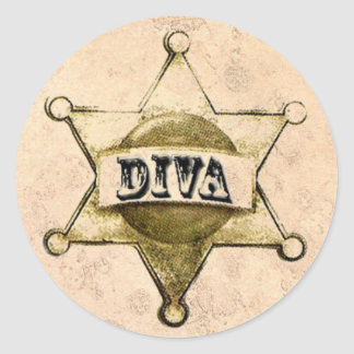 DIVA Sheriff Badge Stickers