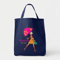 Diva Shopping Tote Bags