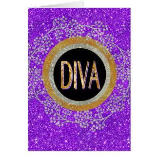 Diva Sparkle Card