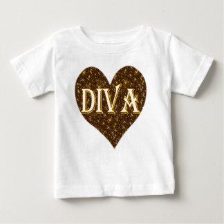Diva sparkle heart kids baby T-Shirt