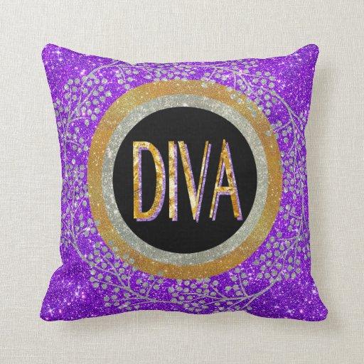 Throw Pillows With Sparkle : Diva Sparkle Throw Pillow Zazzle