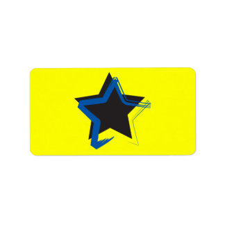 Diva Star Sticker Address Label