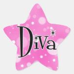 Diva star stickers